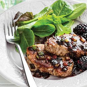 Pork Medallions with Blackberry-Balsamic Glaze