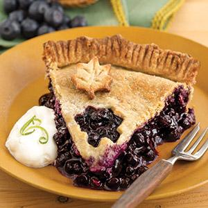Blueberry-Lime Double Crust Pie