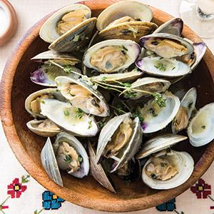 Clams Francais with Beurre Blanc