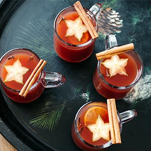 Johanna Corman's Mulled Cider and Pomegranate Punch