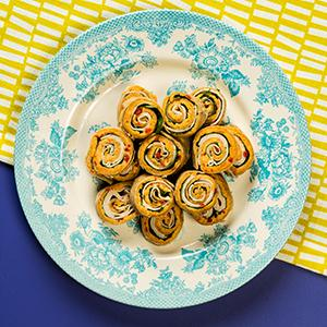 Turkey, Spinach, and Pimento Cheese Pinwheels