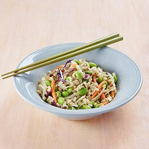 Edamame-Brown Rice Salad with Peanut Dressing