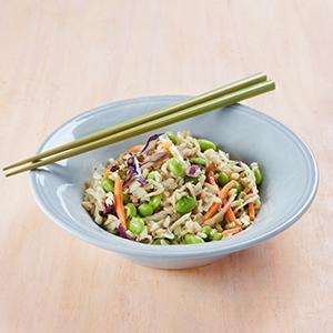 Edamame-Brown Rice Salad with Peanut Dressing