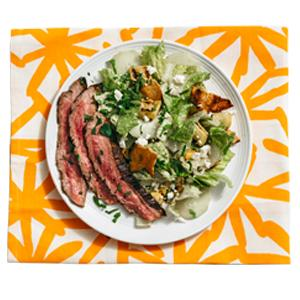 Grilled Steak and Pita Salad