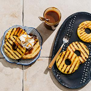 Grilled Pineapple ?Shortcakes? with Miso Caramel