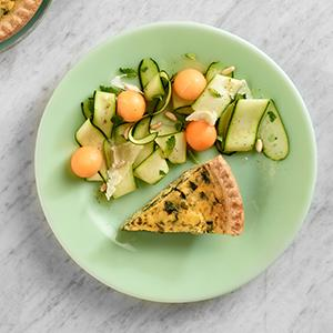 Zucchini and Melon Salad