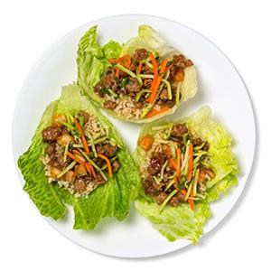 Pork and Shrimp Lettuce Cups