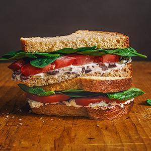 Greek Tomato Sandwich