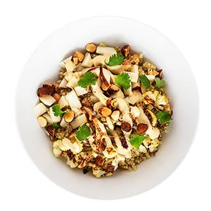 Cauliflower, Apple, and Tahini Grain Bowl