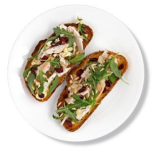 Cranberry-Chicken Tartines