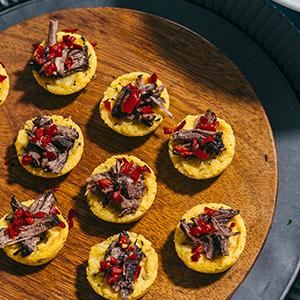 Braised Short Ribs in Polenta Cups