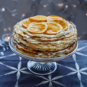 Orange-Mascarpone Crepe Cake