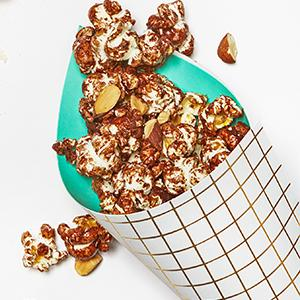 Salted Almond-Chocolate Popcorn