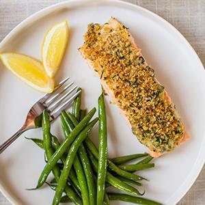 Lemon-Caper Salmon with Herbed Breadcrumbs