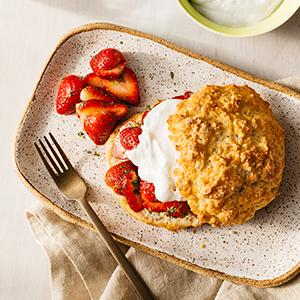 Strawberry Shortcakes with Tarragon and Thyme