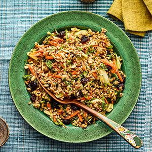 Farro Salad with Smoked Cheddar and Chive Vinaigrette