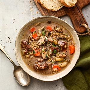 Pressure Cooker Beef and Barley Soup