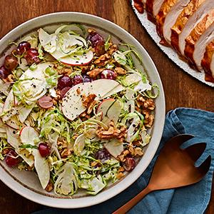 Brussels Sprout Waldorf Salad