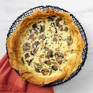 Bacon, Mushroom, and Swiss Quiche