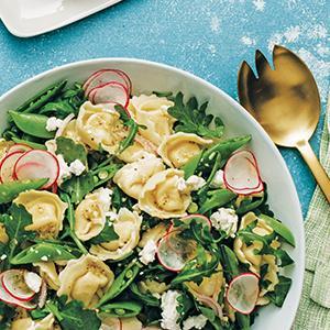 Tortellini-Snap Pea Salad