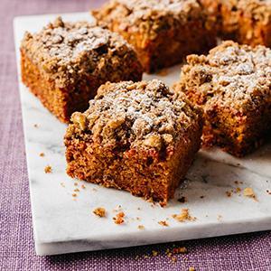 Brown Butter-Beet Coffee Cake with Hazelnut Streusel