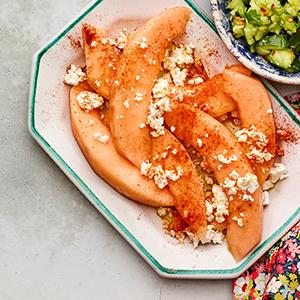 Cantaloupe Wedges with Feta