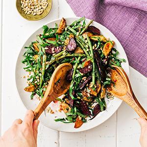 Roasted Beet, Potato, and Green Bean Salad