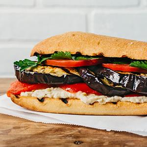 Rustic Italian Eggplant Sandwiches