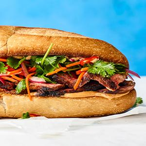 Vietnamese-style Steak Sandwiches