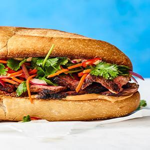 Vietnamese-style Steak Sandwiches