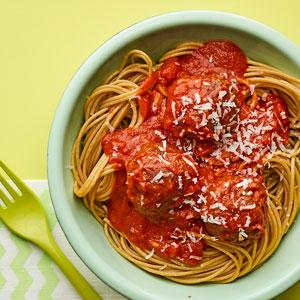 "Spaghetti with ""Secret Ingredient"" Meatballs"
