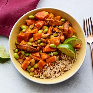 Edamame and Sweet Potato Curry