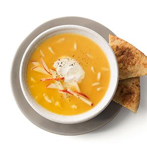 Butternut Squash Soup with Tahini Yogurt