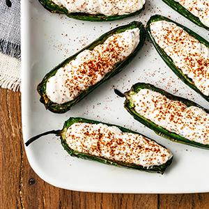 Spicy Jalapenos with Goat Cheese and Ricotta Stuffing