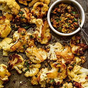 Roasted Cauliflower with Walnut Agrodolce