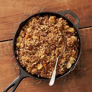 Apple & Pear Fruit Compote with Gingerbread Crumble