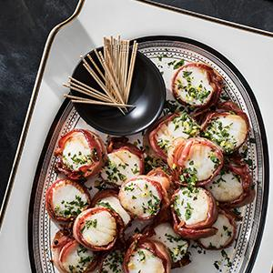 Bacon-Wrapped Scallops with Gremolata