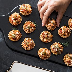 Shrimp Saganaki Bites