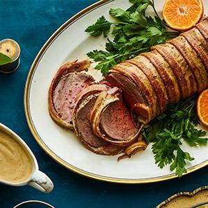 Bacon-Wrapped Beef Tenderloin