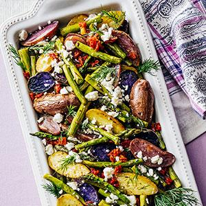 Roasted Vegetables with Feta and Dil