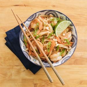 Spicy Peanut Noodles with Shrimp