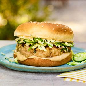 Turkey Burgers with Scallions and Soy