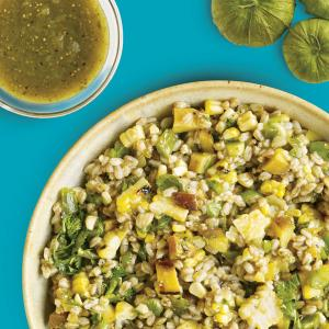 Farro and Grilled Peach Salad