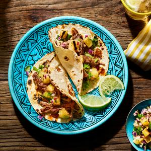 Slow-Grilled Pork Tacos with Charred Pineapple Salsa