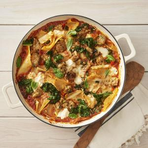 Chicken Sausage and Vegetable Lasagna Skillet