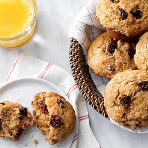 Whole-Wheat Orange Muffins with Cherries