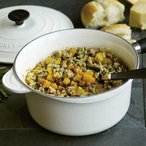 Wild Rice Blend with Butternut Squash and Pancetta