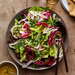 Herby Radicchio and Fennel Salad with Shallot Vinaigrette