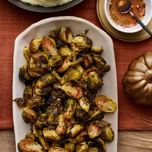 Roasted Brussels Sprouts with Honey-Thyme Glaze
