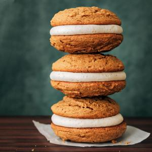 Gingerbread Whoopie Pies with Maple-Brown Butter Filling